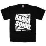 T-shirt Raggasonic - N&B Logo - Black
