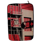 Housse portable Obey - Fire Escape Notebook Sleeve 15'' - Black