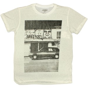 T-shirt Obey - Nubby Thrift Tees - Paris Photo - White