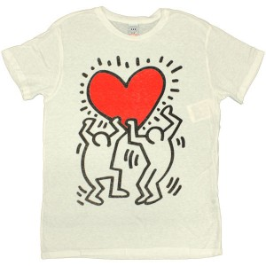 t shirt obey tees limited series keith haring red. Black Bedroom Furniture Sets. Home Design Ideas