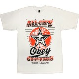T-shirt Obey - Basic Tees - '89 Champs - White