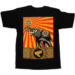 T-shirt Obey - Basic Tees - Peace Elephant - Black