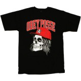 T-shirt Obey - Basic Tees - Snapback Skull - Black