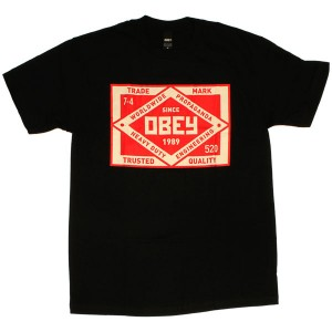 T-shirt Obey - Standard Issue Basic Tees - Obey Trademark - Black