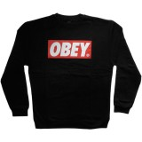 Obey - Standard Issue Fleece - The Box Crew - Black