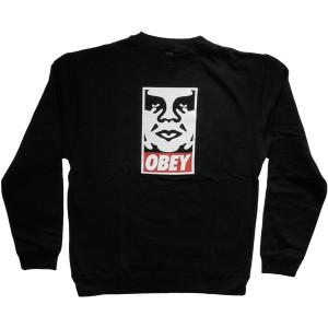Obey - Standard Issue Fleece - OG Face Crew - Black