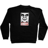 Obey - Standard Issue Fleece - OG Face Crew - Black