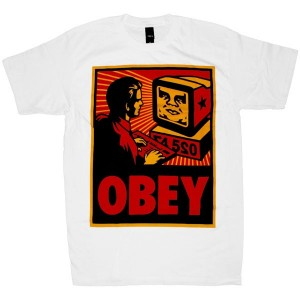 OBEY Basic T-Shirt - White Obey Your Computer