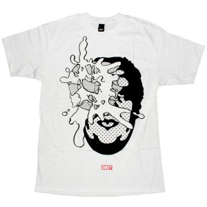 OBEY Basic T-Shirt - White Pie Face