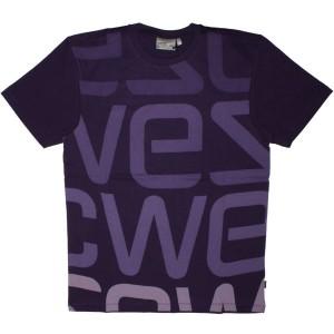 WESC T-shirt - Parachute Purple Logo Biggest
